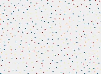 polka dots colorful pattern on white background and texture.