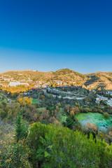 Sacromonte from Avellano Road in Granada, Spain.