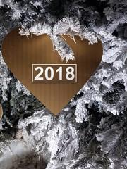 vœux 2018 cœur hiver