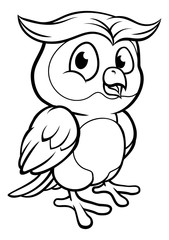 Cartoon Owl Character