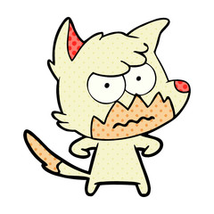 cartoon annoyed fox