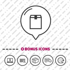 Paket Zustellung Icon. Versand Logistik Symbol.