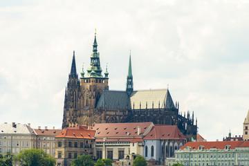 PRAGUE, CZECH REPUBLIC - JUNE 25, 2016: St. Vitus Cathedral at Prague Castle.