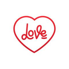 Valentines Day. Love lettering logo design for Valentine's Day