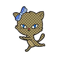 cute cartoon cat running