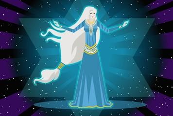 pleiadian lady alien astral body