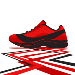 Casual Basketball Shoe Vector and Icon