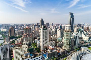 a bird's eye view of shanghai