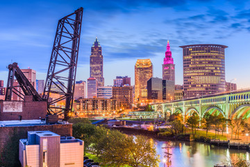 Cleveland, Ohio, USA Skyline