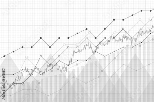Financial Data Graph Chart Vector Illustration Growth Company