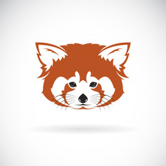 Vector of red panda head design on white background. Wild Animals. Vector illustration.