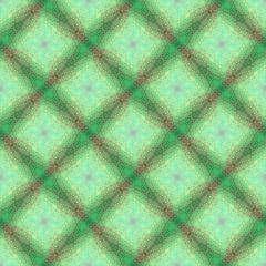 Seamless pattern with a decorative abstract ornament in the form of a grid, green