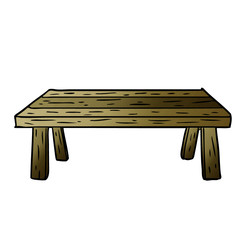 cartoon wooden table