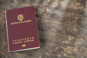 Colombian passport ready to travel abroad
