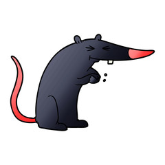 cartoon sneaky rat