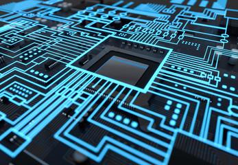 Obraz 3d Computer Technologie Ki - fototapety do salonu