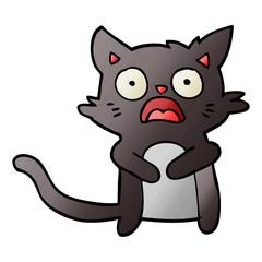cartoon horrified cat