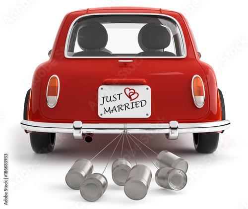Auto Mit Dosen Just Married Stockfotos Und Lizenzfreie Bilder Auf