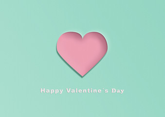 Happy valentine´s day card in paper look