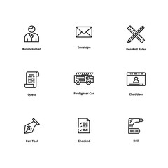 Set of high quality line icon. Icon for web and user interface