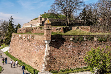 Belgrade, Serbia - April 11, 2015: Belgrade, Serbia, Kalemegdan fortress, war museum.The Military Museum (Serbian:Vojni muzej ) in Belgrade was founded in 1878.