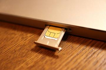 Inserting SIM card to Smartphone