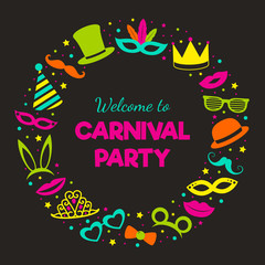 Carnival Party - poster. Vector.