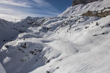 Bild einer Schneeschuhwanderung im Wallis