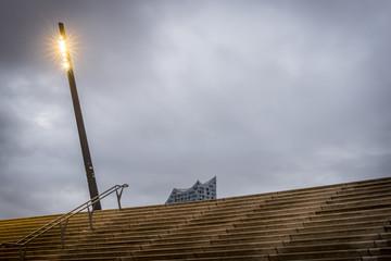 Germany, Hamburg, Elbpromenade with terraces, Elbe Philharmonic Hall