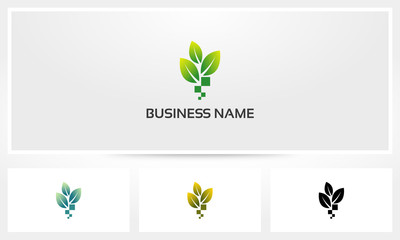 Leaf Pixel Digital Seed Logo