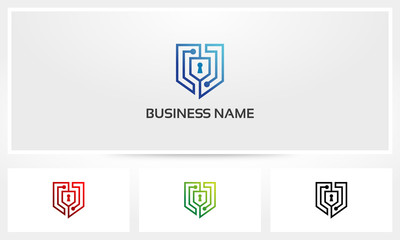 Shield Security Keyhole Nodes Logo