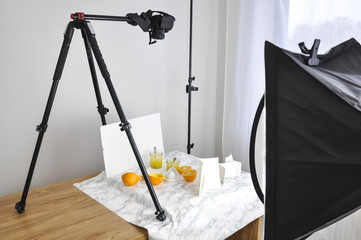 Food Photography on Tripod and Softbox