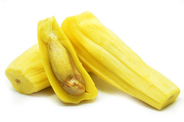 Ripe jackfruit isolated