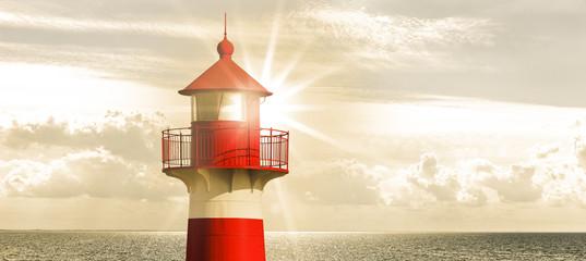 Foto op Canvas Vuurtoren Leuchtturm