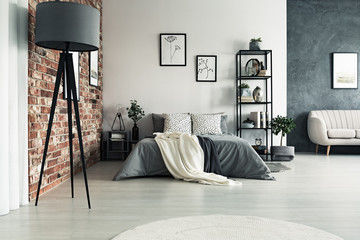 Grey roomy apartment