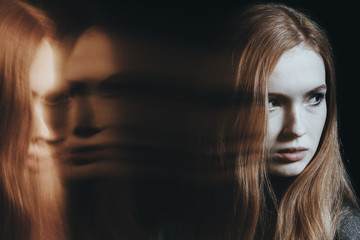 Young girl with personality disorder