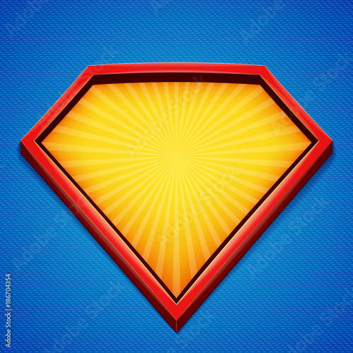 superhero background superhero logo template red yellow frame
