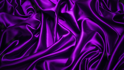 Abstract purple drapery cloth, Dark violet fabric background