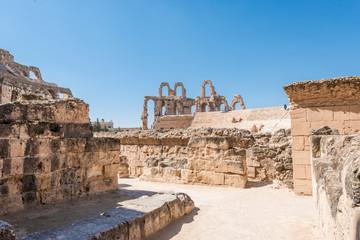 Amphitheatre of El Jem in Tunisia