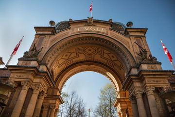 Garden Poster Scandinavia Copenhagen, Denmark - 30 Apr, 2017: The entry gate of Tivoli Gardens
