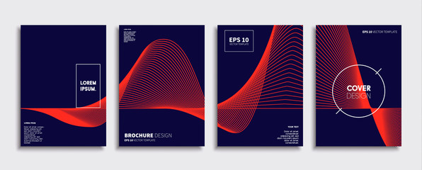 Minimal Vector cover designs. Future Poster template. Wall mural