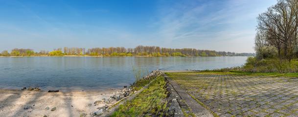Am Hessischen Rheinufer bei Nordheim