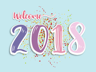 welcome 2018 abstract background