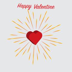 Happy valentine heart with friework.