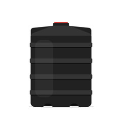 plastic black water tank icon