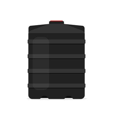 plastic black water tank icon