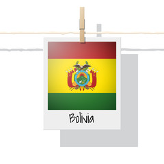 South America continent flag collection with photo of Bolivia flag , vector , illustration