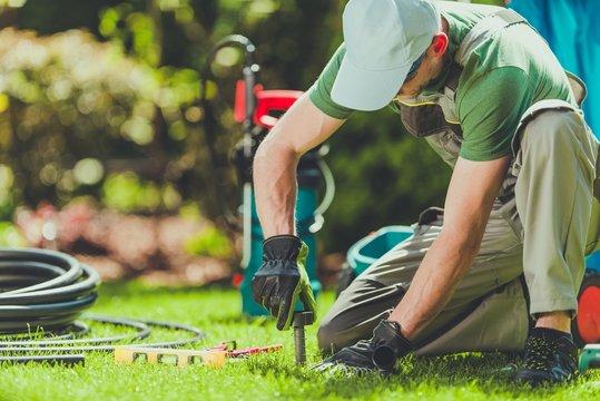 Grass Sprinklers Installation