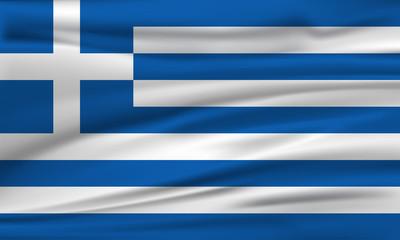 Vector flag of Greece. Vector illustration