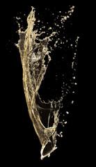 Fototapete - champagne splash on a black background
